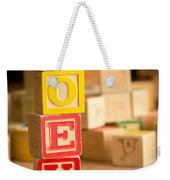 Zoey - Alphabet Blocks Weekender Tote Bag