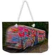 Zooming Graffiti Bus Weekender Tote Bag