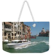 Zooming On The Canals Of Venice Weekender Tote Bag