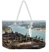 Zug Island Industrial Area Of Detroit Weekender Tote Bag