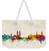 Zurich Switzerland Skyline Weekender Tote Bag by Michael Tompsett
