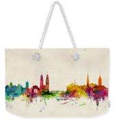 Zurich Switzerland Skyline Weekender Tote Bag by Michael Tompsett