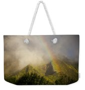 A Rainbow Shines Over The Rugged Weekender Tote Bag