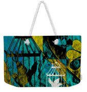 3 Caged Birds Grunge Weekender Tote Bag