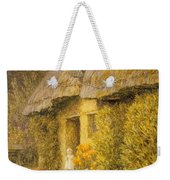 A Child At The Doorway Of A Thatched Cottage  Weekender Tote Bag