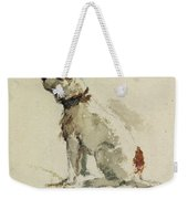 A Terrier - Sitting Facing Left Weekender Tote Bag by Peter de Wint