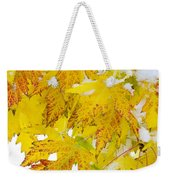 Autumn Snow Portrait Weekender Tote Bag by James BO  Insogna