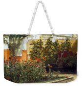 Corner Of A Roman Garden Weekender Tote Bag by Sir Lawrence Alma-Tadema