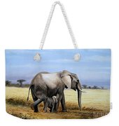 Elephant And Her Child Weekender Tote Bag