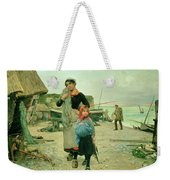 Fisherfolk Returning With Their Nets Weekender Tote Bag