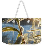Frost On Willow At Sunrise Weekender Tote Bag