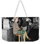 Lady In A Diner Weekender Tote Bag by Andrew Fare