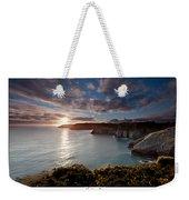 Lydstep Cliffs Sunset Weekender Tote Bag