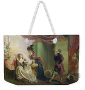 Malvolio Before Olivia - From 'twelfth Night'  Weekender Tote Bag
