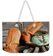 Old Cowboy Boots Weekender Tote Bag