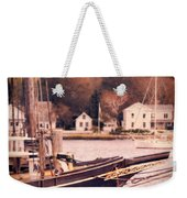 Old Ship Docked On The River Weekender Tote Bag