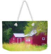 Peaceful Country Barn And Meadow Weekender Tote Bag