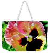 Pink And Yellow Pansy Weekender Tote Bag