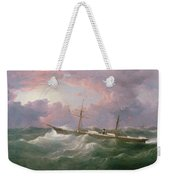 Portrait Of The Lsis A Steam And Sail Ship Weekender Tote Bag
