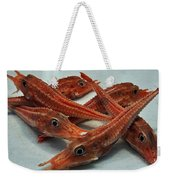 Red Cherry Shrimp In The Market Weekender Tote Bag