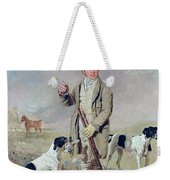 Richard Prince With Damon - The Late Colonel Mellish's Pointer Weekender Tote Bag by Benjamin Marshall