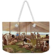 The Sheep Shearing Match Weekender Tote Bag