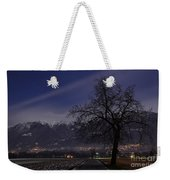Tree And Snow-capped Mountain Weekender Tote Bag