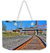 0001 Train Tracks Weekender Tote Bag