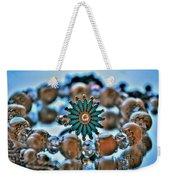 0001 Turquoise And Pearls Weekender Tote Bag
