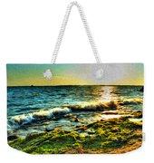 00015 Windy Waves Sunset Rays Weekender Tote Bag