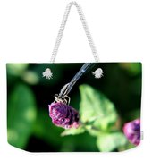 0003 Dragonfly Yoga On A Salvia Burgundy Candle Weekender Tote Bag