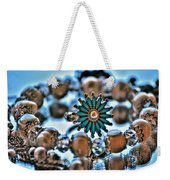 0003 Turquoise And Pearls Weekender Tote Bag