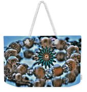 0004 Turquoise And Pearls Weekender Tote Bag