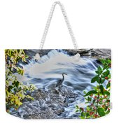 0005 Blue Heron At Glen Falls Williamsville Ny Weekender Tote Bag