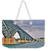 001 Stormy Skies Peace Bridge Series Weekender Tote Bag
