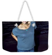 002 A Sunset With Eyes That Smile Soothing Sounds Of Waves For Miles Portrait Series Weekender Tote Bag