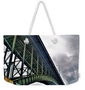 002 Stormy Skies Peace Bridge Series Weekender Tote Bag
