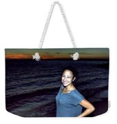 003 A Sunset With Eyes That Smile Soothing Sounds Of Waves For Miles Portrait Series Weekender Tote Bag