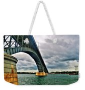 003 Stormy Skies Peace Bridge Series Weekender Tote Bag