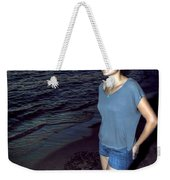 004 A Sunset With Eyes That Smile Soothing Sounds Of Waves For Miles Portrait Series Weekender Tote Bag