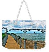004 Stormy Skies Peace Bridge Series Weekender Tote Bag