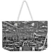 005bw On A Summers Day  Erie Basin Marina Summer Series Weekender Tote Bag
