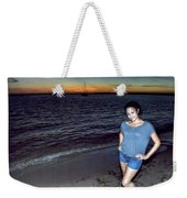 006 A Sunset With Eyes That Smile Soothing Sounds Of Waves For Miles Portrait Series Weekender Tote Bag