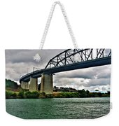 006 Stormy Skies Peace Bridge Series Weekender Tote Bag