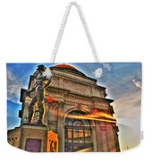 006 The Hiker At Sunrise Weekender Tote Bag