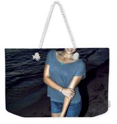 007 A Sunset With Eyes That Smile Soothing Sounds Of Waves For Miles Portrait Series Weekender Tote Bag