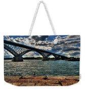 007 Peace Bridge Series II Beautiful Skies Weekender Tote Bag