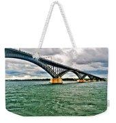 007 Stormy Skies Peace Bridge Series Weekender Tote Bag