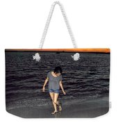 008 A Sunset With Eyes That Smile Soothing Sounds Of Waves For Miles Portrait Series Weekender Tote Bag