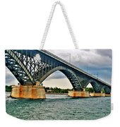 008 Stormy Skies Peace Bridge Series Weekender Tote Bag